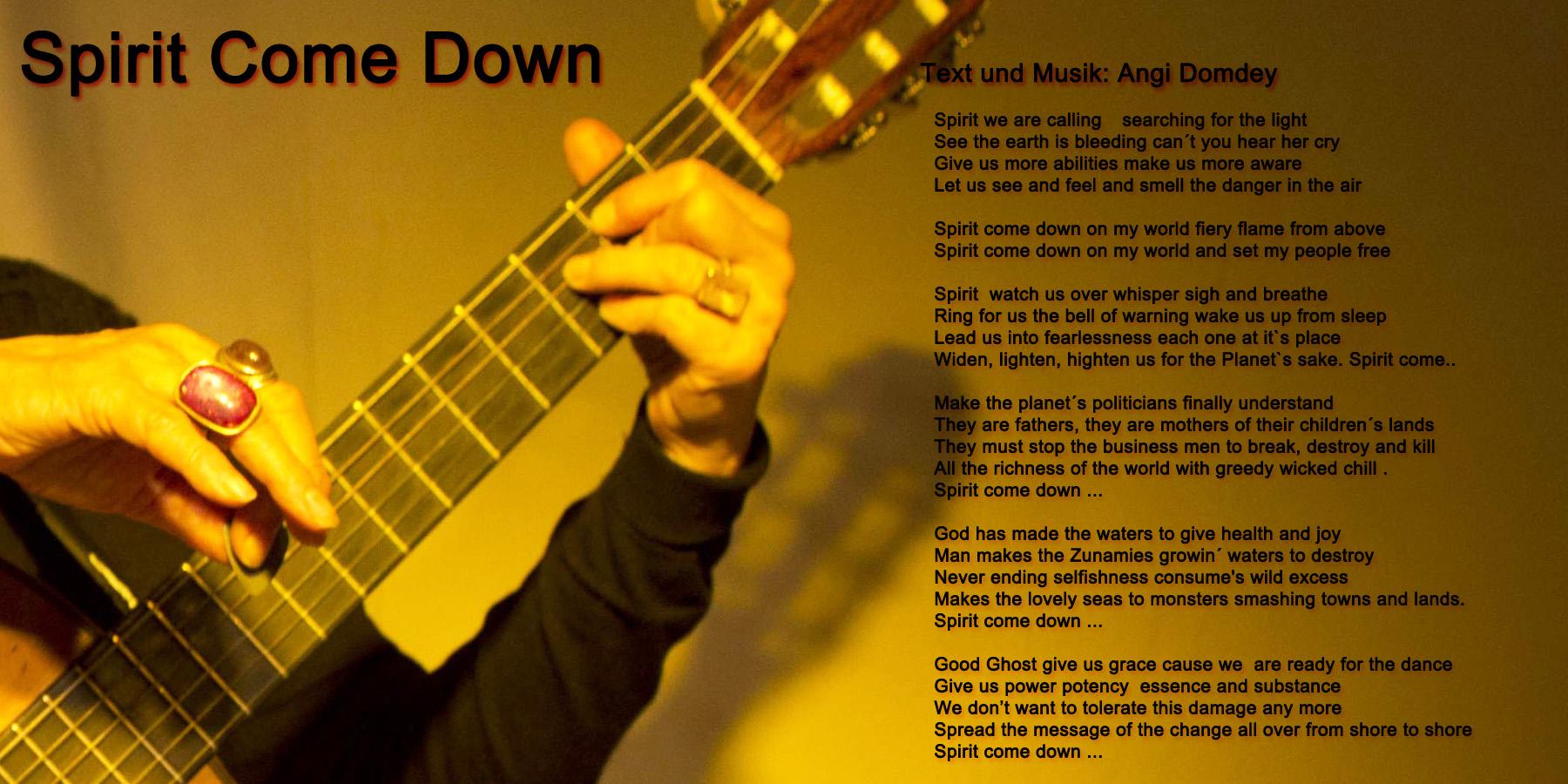 Spirit-Come-Down